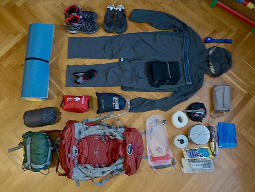 Набор вещей для похода