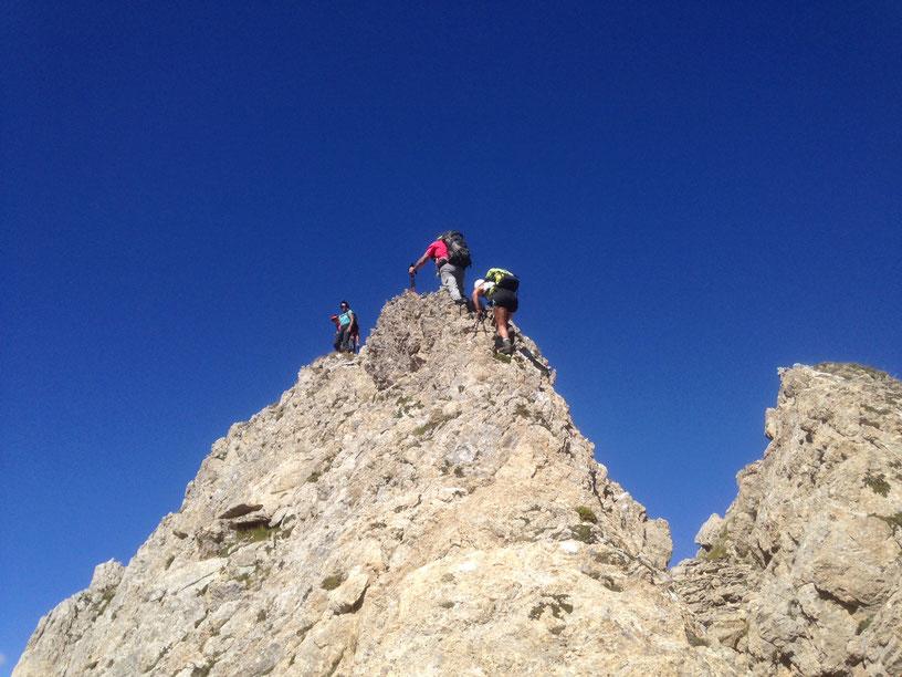 Au sommet du Pic de Pombie - photo JM