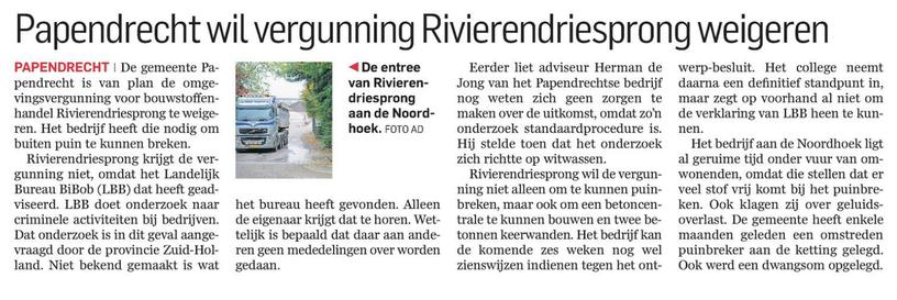 Bericht AD Dordtenaar