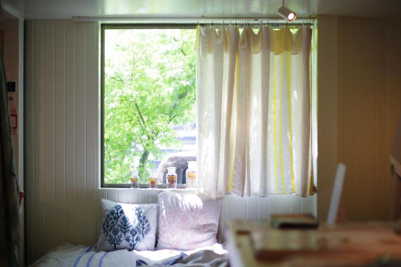USVAはカーテン使いもオススメ。色々な使い方で楽しんで。
