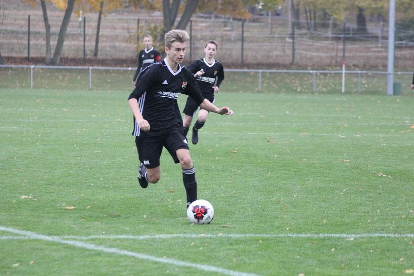 Bild: Marlon Kühnen, der Mittelfeldspieler war an beiden Treffern beteiligt.