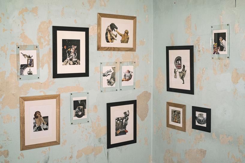 """Vue de l'exposition """"Ian Curtis likes this place"""" à la Villa Cameline, 2019"""