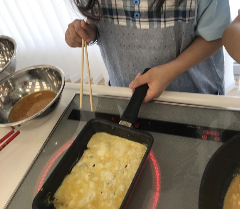 美濃加茂 岐阜 岐南 犬山 一宮 府中(東京)子供料理教室 お弁当作り卵焼き