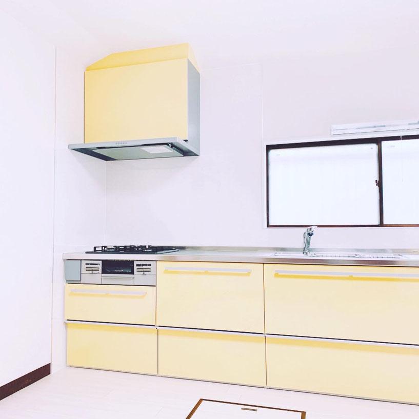 ダイニングキッチンリフォ-ム アフターの写真です。