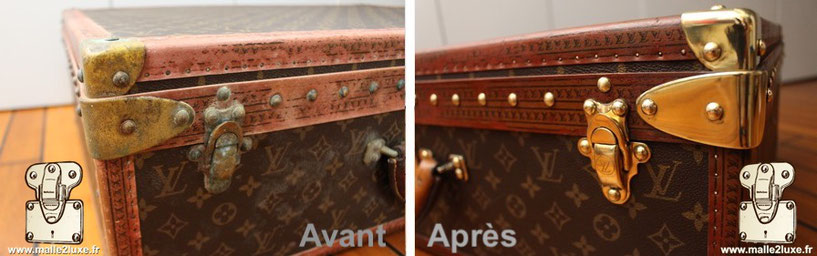 coin laiton Louis Vuitton ancien