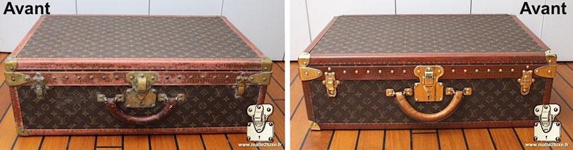 avant apres restauration Louis Vuitton