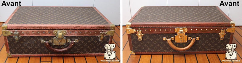 before after restoration Louis Vuitton
