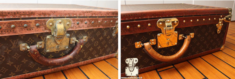 Louis Vuitton suitcase cleaning
