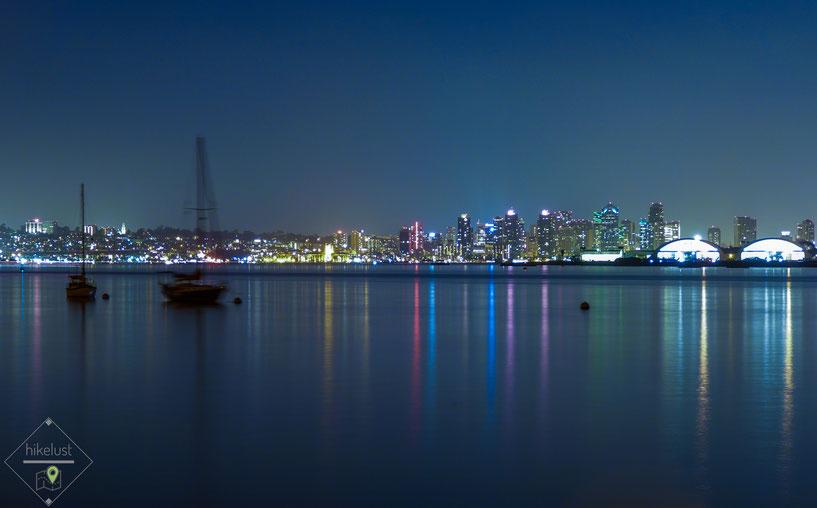 Bay View - San Diego Skyline und ein Teil von Coronado von Shelter Island aus
