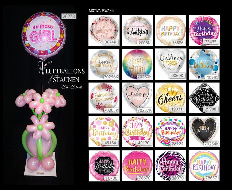 Ballon  Bouquet  bunt Dekoratione elegant  exlusiv  Eyecatcher Folienballon Geburtstag Geschenk  Happy Birthday  Hingucker Kindergeburtstag Luftballon  Party Witzig Mädchen