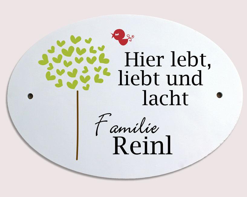 Türschild Herzbaum Geschenk Hochzeit