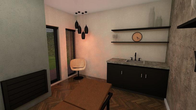 3D ontwerp interieur beautysalon Goes