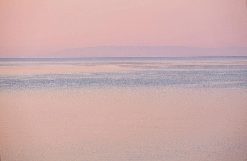 Mathieu Guillochon photographe, Grèce, Péloponnèse, magne, voyage, mer, rivage, littoral, aube, été, rose.
