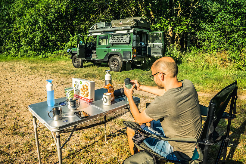 Using the Wacaco Nanopresso as our portable coffee maker during camping