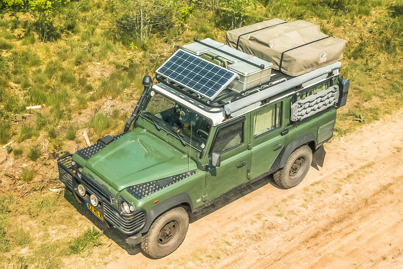 Review of our fully loaded Tembo 4x4 roof rack for the Land Rover Defender 110