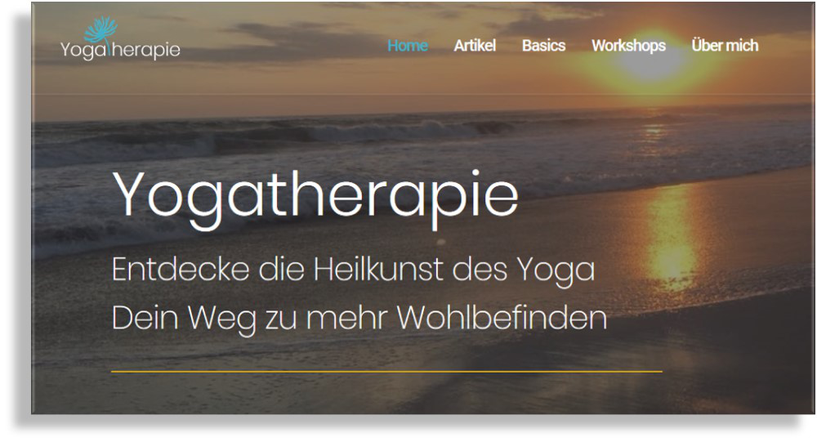 Yogatherapie Blog Website von Birgit Lenarz