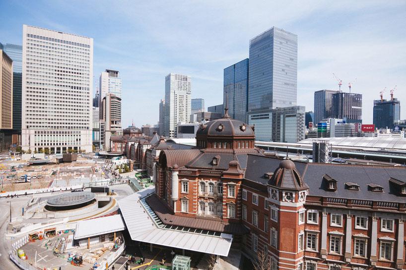 東京駅周辺の工事の様子。BIMは活用されているのだろうか。