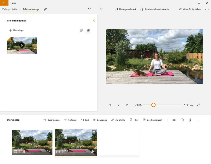 Fitness-Videos selbst mit dem Windows Video Editor schneiden