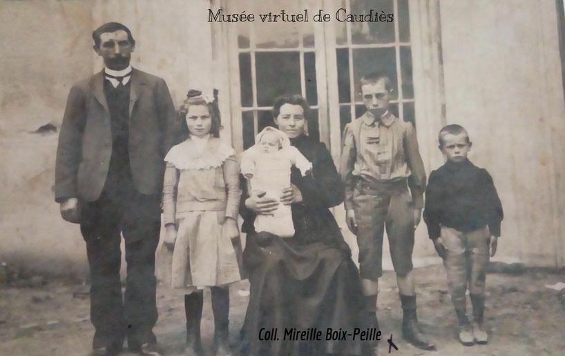 Hector Peille enfant (à droite) avec sa famille