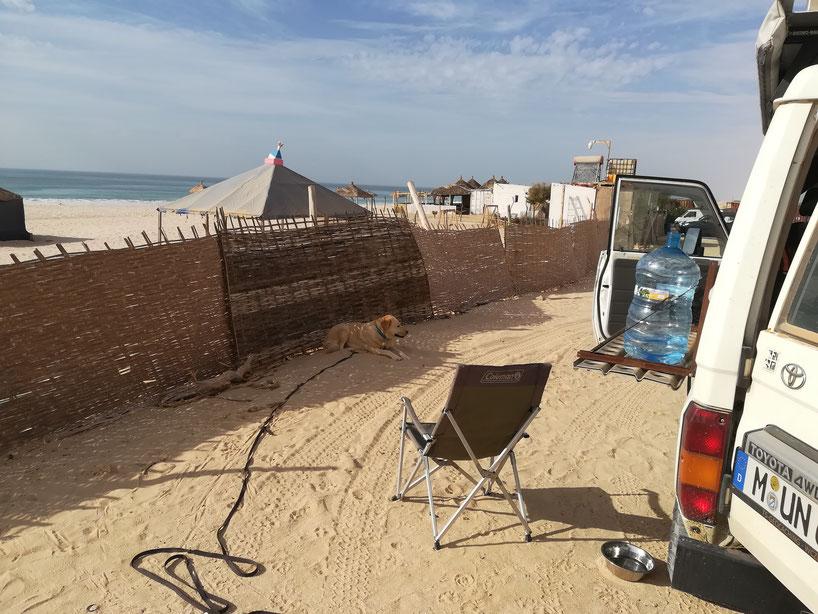 Unser Schlafplatz am Atlantik - Les Sultanes
