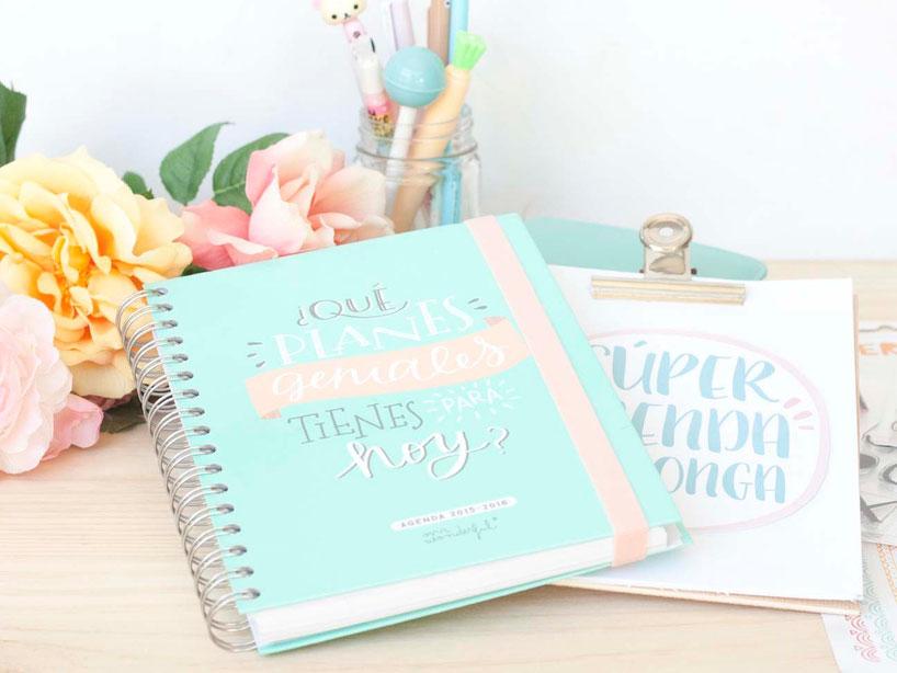 Organiza tu agenda con elementos de scrapbooking by Violeta