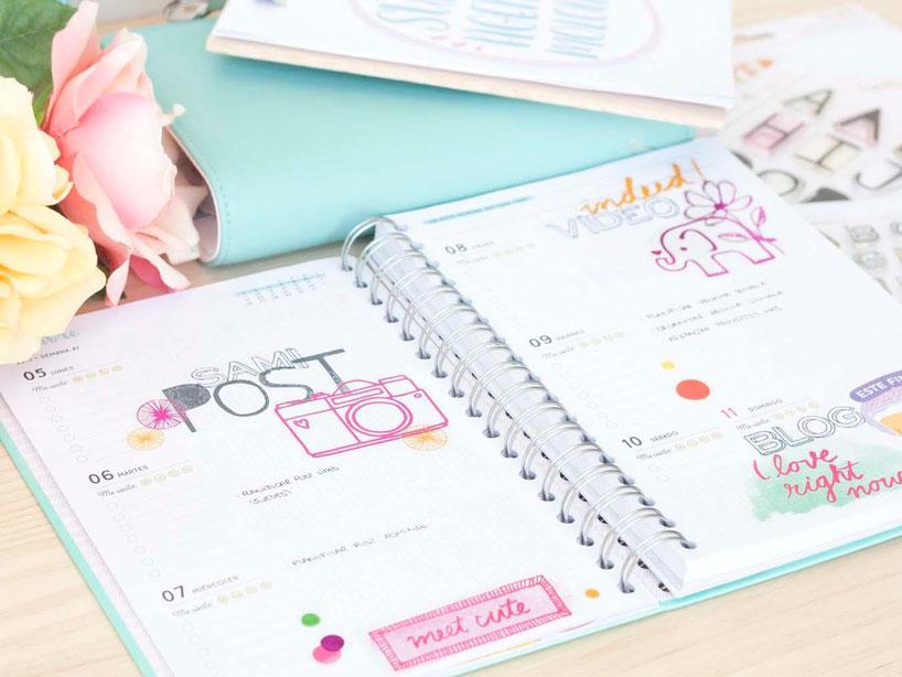 Organiza tu agenda con elementos de scrap by Violeta