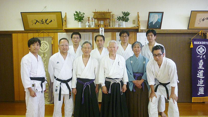 福島八光流柔術道場にて 千葉県鎌ケ谷市の八光流柔術健心会道場です。