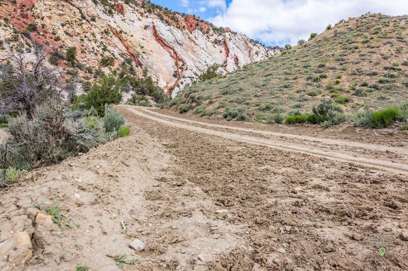 Die Cottonwood Canyon Road ist nur im trockenen Zustand befahrbar