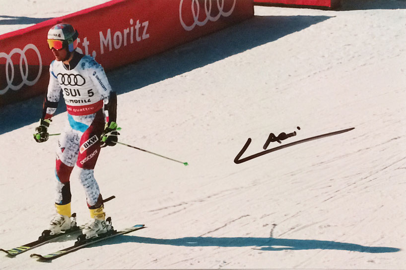 20.09.2017 6 Autographs from Luca Aerni Ski and 5 Autographs from Nadine Hildebrand 100m Hurdles