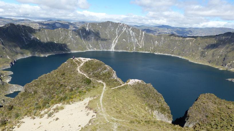 Lagune de Quilotoa, belle récompense après 3 jours de trek !