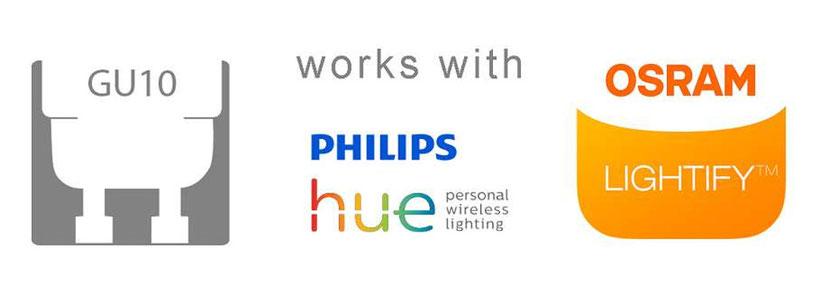 Gu10 Philips Hue Osram lightify kompatibel