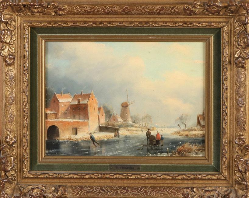 te_koop_aangeboden_een_wintergezicht_van_de_nederlandse_kunstschilder_marinus_cornelis_thomas_vermeulen_1868-1941
