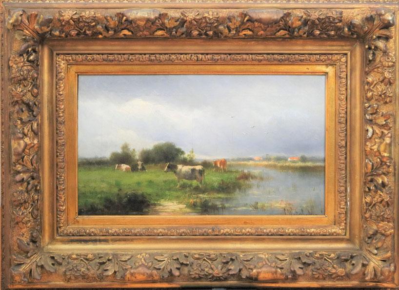 te_koop_aangeboden_een_schilderij_van_cornelis_westerbeek_I_1873-1917_nabloei_haagse_school