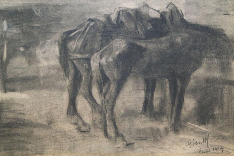 te_koop_aangeboden_een_houtskool_tekening_kunstwerk_van_de_kunstschilder_maurice_goth_1873-1944_hongaarse_school