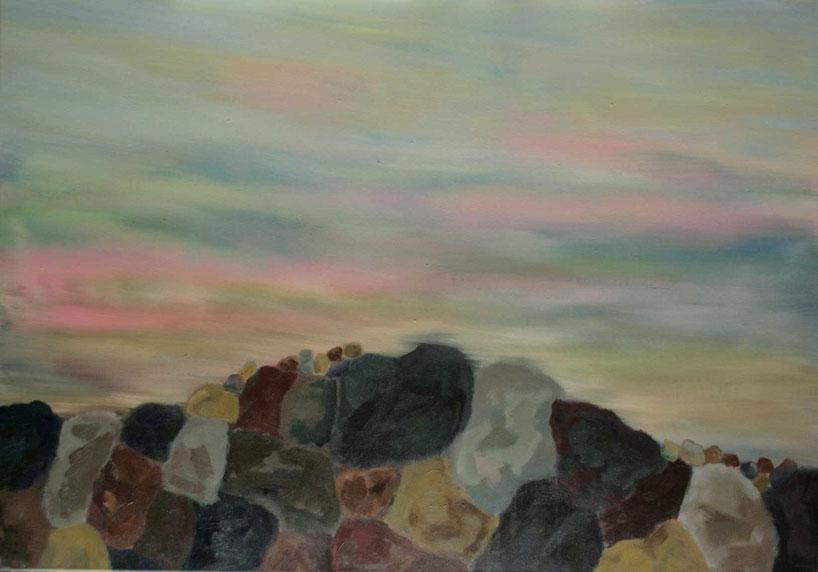 Minéral 1, 2015  Acryl auf Leinwand 70x100