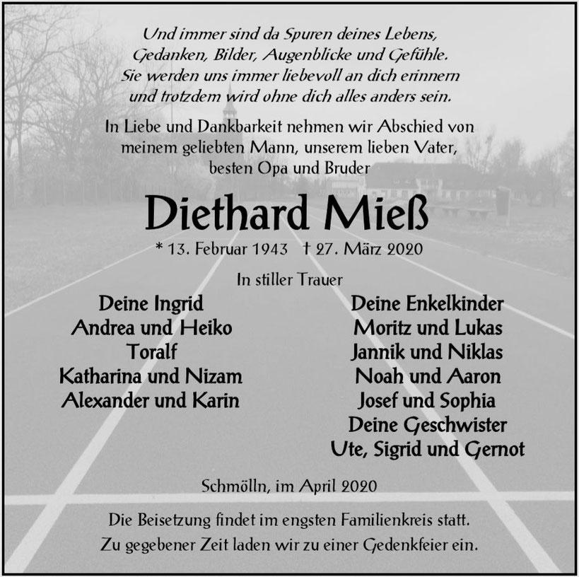 Bestattung-Diethard-Mieß-Traueranzeige-Bestattung Focke-Bestattungshaus Focke-Prenzlau-Pasewalk-Torgelow