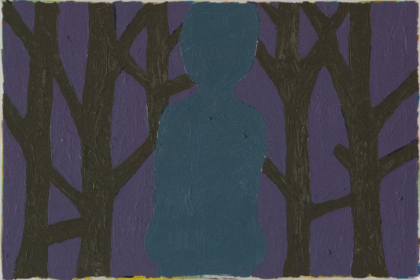 Im Dreiklang mit sich selbst / 2015 / 40x60 cm / Öl und Acryl auf Leinwand