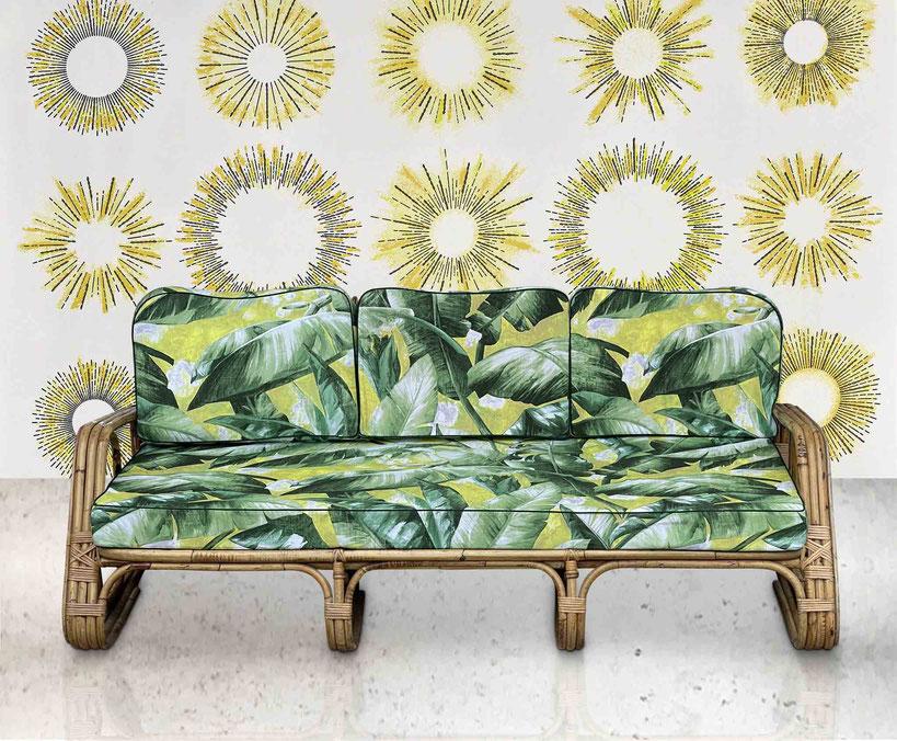 divano vintage bamboo tito agnoli bonacina