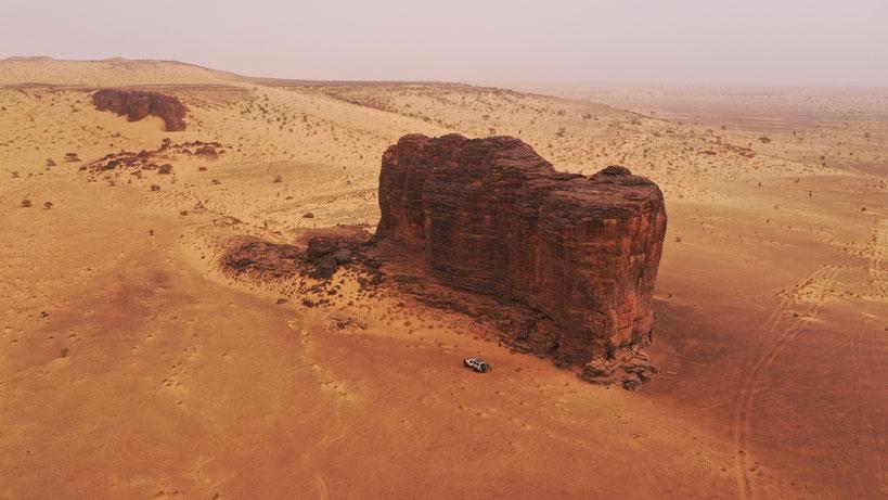 Jebel Zeiga aus der Luft