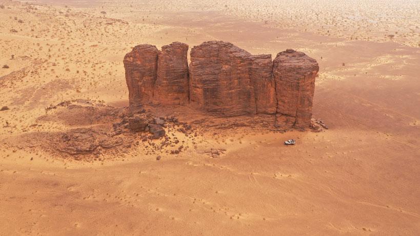 """Hier am Jebel Zeiga wurde die Anfangssequenz von """"Das fünfte Element"""" gedreht"""