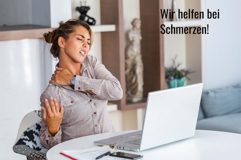 Physiotherapie Basel Santewell hilft bei Corona Schmerzen durch Home Office, die Physio in Basel!