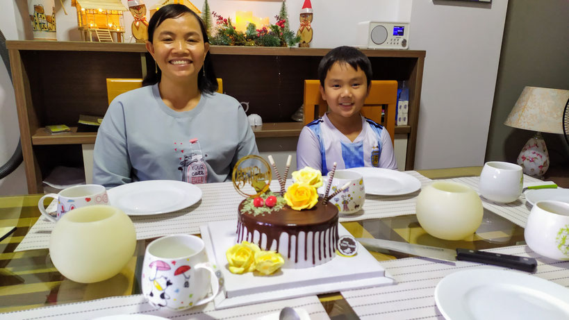 Luong und Dung bei ihrem Geburtstag