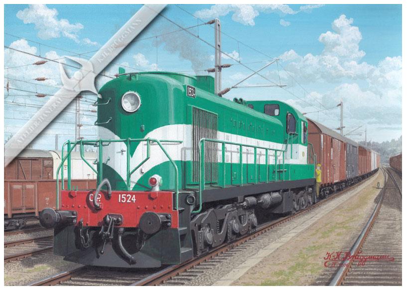 Diesellok CP 1524 im Rangierdienst, Ende der 60er