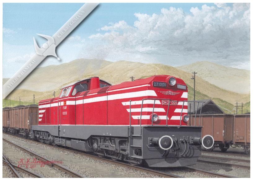 Diesellok TCDD DH 27 mit Kohlezug in Irmak 60er Jahre