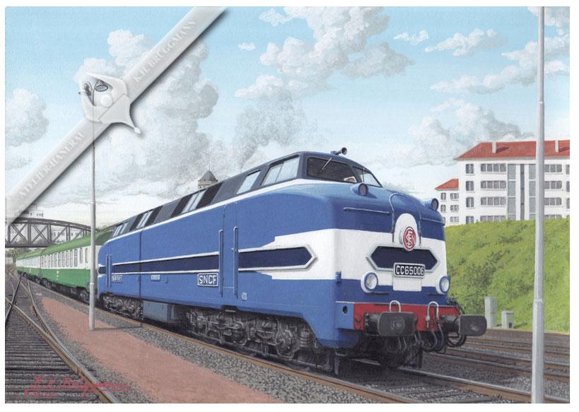 Dieselloks SNCF CC 65 006 in La Rochelle, 80er Jahre