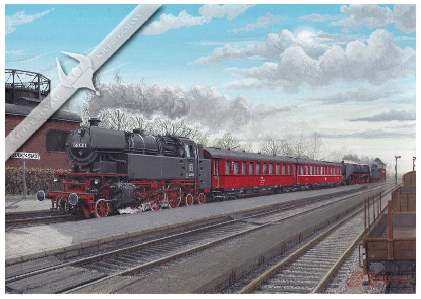 Baureihe 66, Messzug, 1956, Aquarell