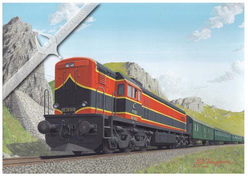 Diesellok TCDD DE 20 001 auf der Bergstrecke Irmak-Ankara in den 50ern