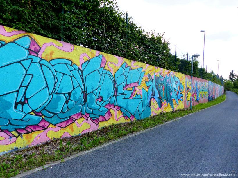 Graffiti-Wand Schweinheim Aschaffenburg MelanieaufReisen