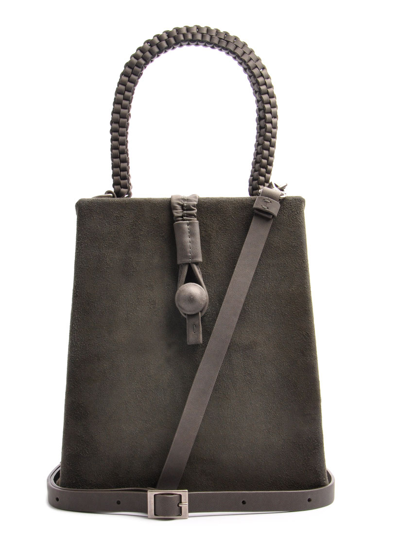Ledertasche Vintagestyle Leder grau OSTWALD Tradition
