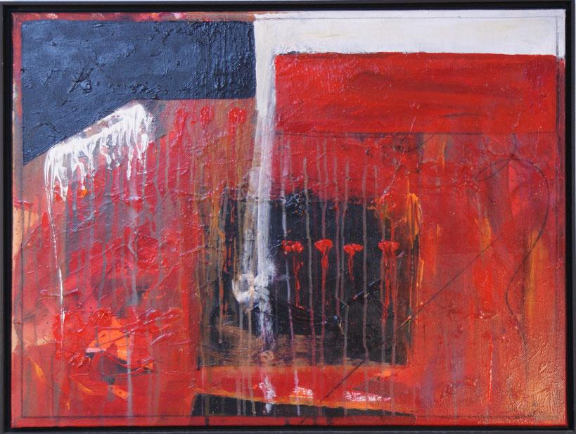 """4 rote Tropfen""  60x80 Acryl auf Leinwand  2006"
